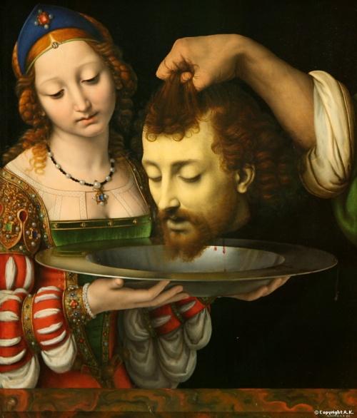 Andrea Solario - Salomé com a cabeça de João Batista