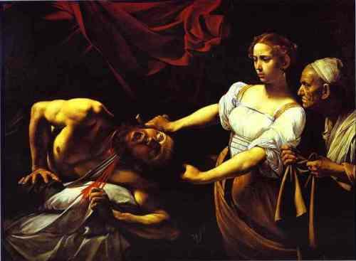 Caravaggio - Judith degola Holofernes